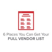 6 Places You Can Get Your Full Vendor List