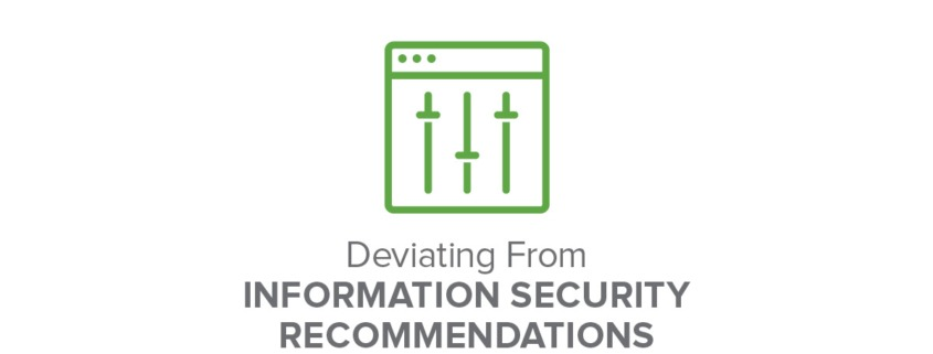 Deviating from Information Security Recommendations