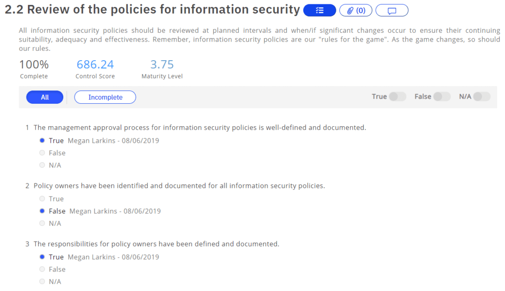 review policies information security