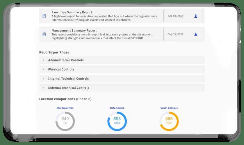 assessment summary report