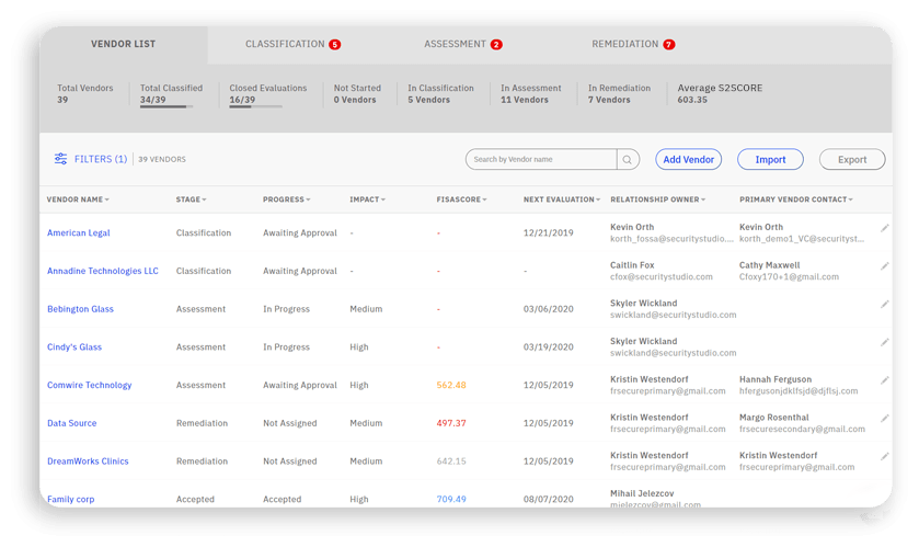 vendor risk management software