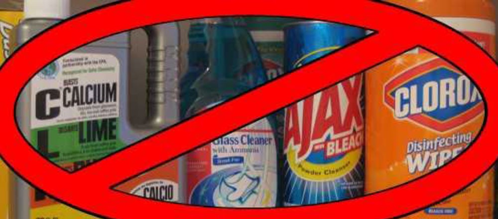 use proper cleaning products
