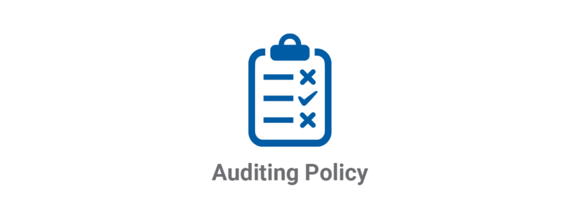 Auditing Policy