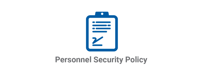 Personnel Security Policy