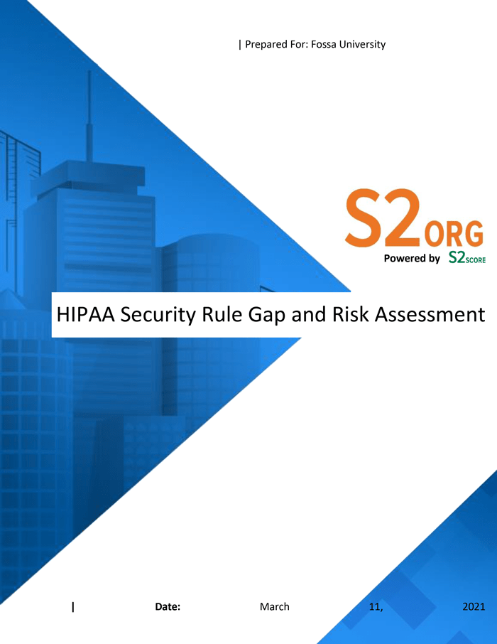 Sample HIPAA Gap Specialty Report