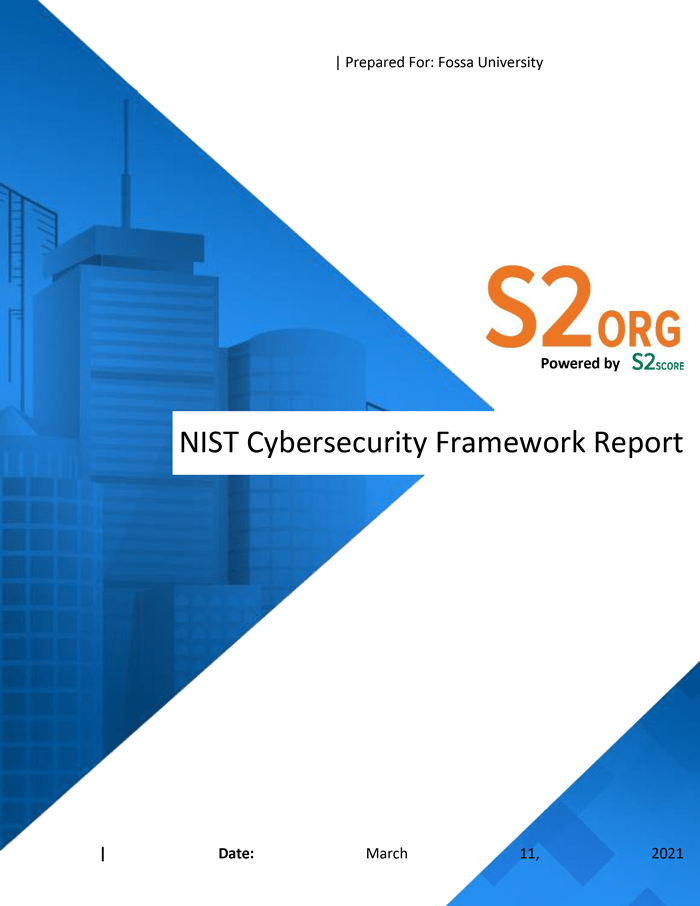 Sample NIST CSF Specialty Report