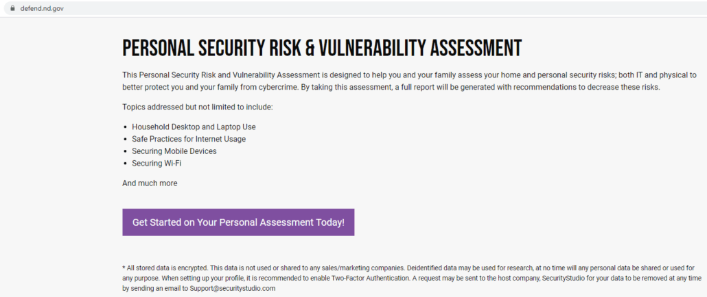 personal security risk assessment