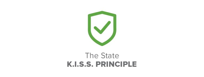 state kiss principle